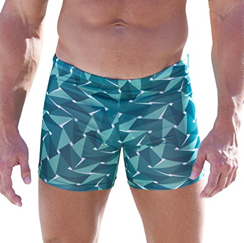 Cooltan-Mens-Tan-Through-Sport-Shorts-Jammers-Emerald