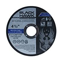 "25 Pack Black Hawk 4-1/2"" x .040 x 7/8"" Arbor Metal & Stainless Steel Cut Off Wheels - Ultra Thin Discs"