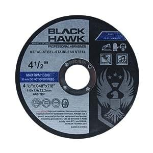 "Amazon.com: 25 Pack Black Hawk 4-1/2"" x .040 x 7/8"" Arbor"