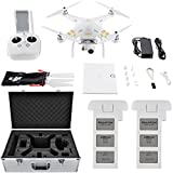 Dji Phantom 4k Best Deals - DJI Phantom 3 4K Quadcopter Drone with 4K Camera and 3-Axis Gimbal Flight Bundle includes Drone, Aluminum Carrying Case and Spare Intelligent Flight Battery