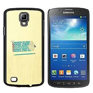 YiPhone /// Prima de resorte delgada de la cubierta del caso de Shell Armor - Diseño Crea Dios Bueno feliz Cita - Samsung Galaxy S4 Active i9295