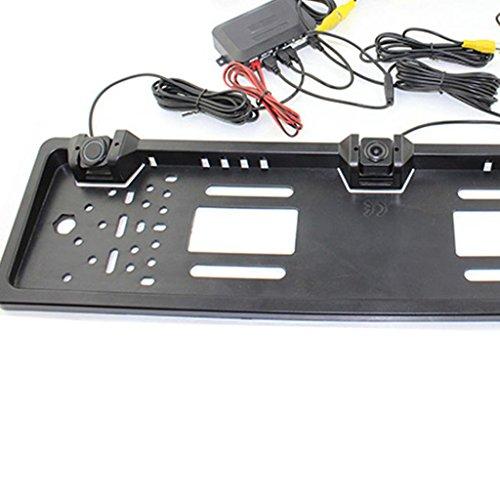 Car Backup Camera, Dacawin Licence Plate Waterproof radar reversing camera (Silver) by Dacawin (Image #1)