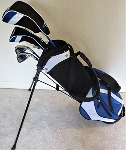 Boys Ages 8-12 Junior Golf Club Set with Stand Bag for Kids Jr. Right Handed Premium Professional Tour Quality by Tartan Sports