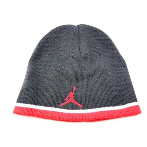 319091f5f4ea41 Nike Jordan Jumpman KNit Boys Youth Hat Size 8 20 Black Red ...