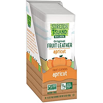 Stretch Island Tangy Apricot Fruit Leather, 0.5-ounce Bags (Pack of 30)