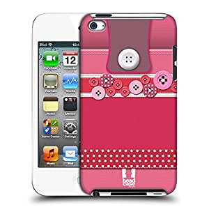 Head Case Designs Hot Pink Button Purse Hard Back Case for Apple iPod Touch 4G 4th Gen