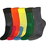 DANISH ENDURANCE Merino Wool Light Socks (Multicolor (1 x Grey, 1 x Green, 1 x Yellow) 3 Pairs, US Kids 13-3)