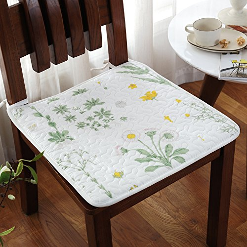 Price comparison product image CLG-FLY Summer Cloth Chair Cushion Cushion Antiskid Thickening Office Four Thin Section Chair Pad Student Stool Pad, 50X135Cm Car Backseat Green