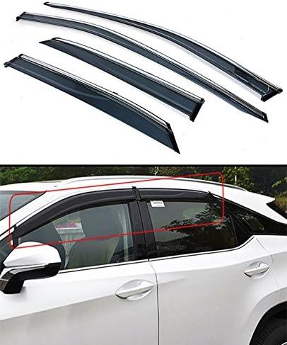 6pcs Hlyjoon Wind Deflector Clips Car Side Window Visor Channel En Acier Inoxydable Fixation Fixation Clip Set Auto Pare-Soleil Vent Pluie Vent Garde Clip Kit Universel