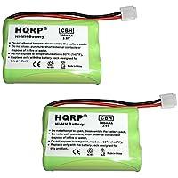 HQRP 2-Pack Phone Battery at&T/Lucent E5911, E5912B, E5913B, E5914, E5914B, E5917 + HQRP Coaster