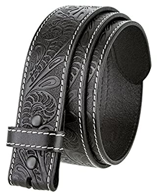 BS118 Men's Western Floral Engraved Tooled Leather Belt Strap 1.5""