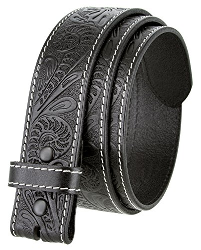 - BS118 Men's Western Floral Engraved Tooled Leather Belt Strap 1.5