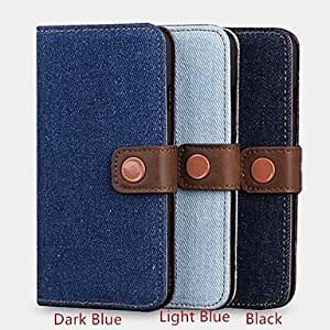 LCJ Cowboy Lines Full Body Leather Cover with Card Slot for iPhone 6 (Assorted Colors) , Black