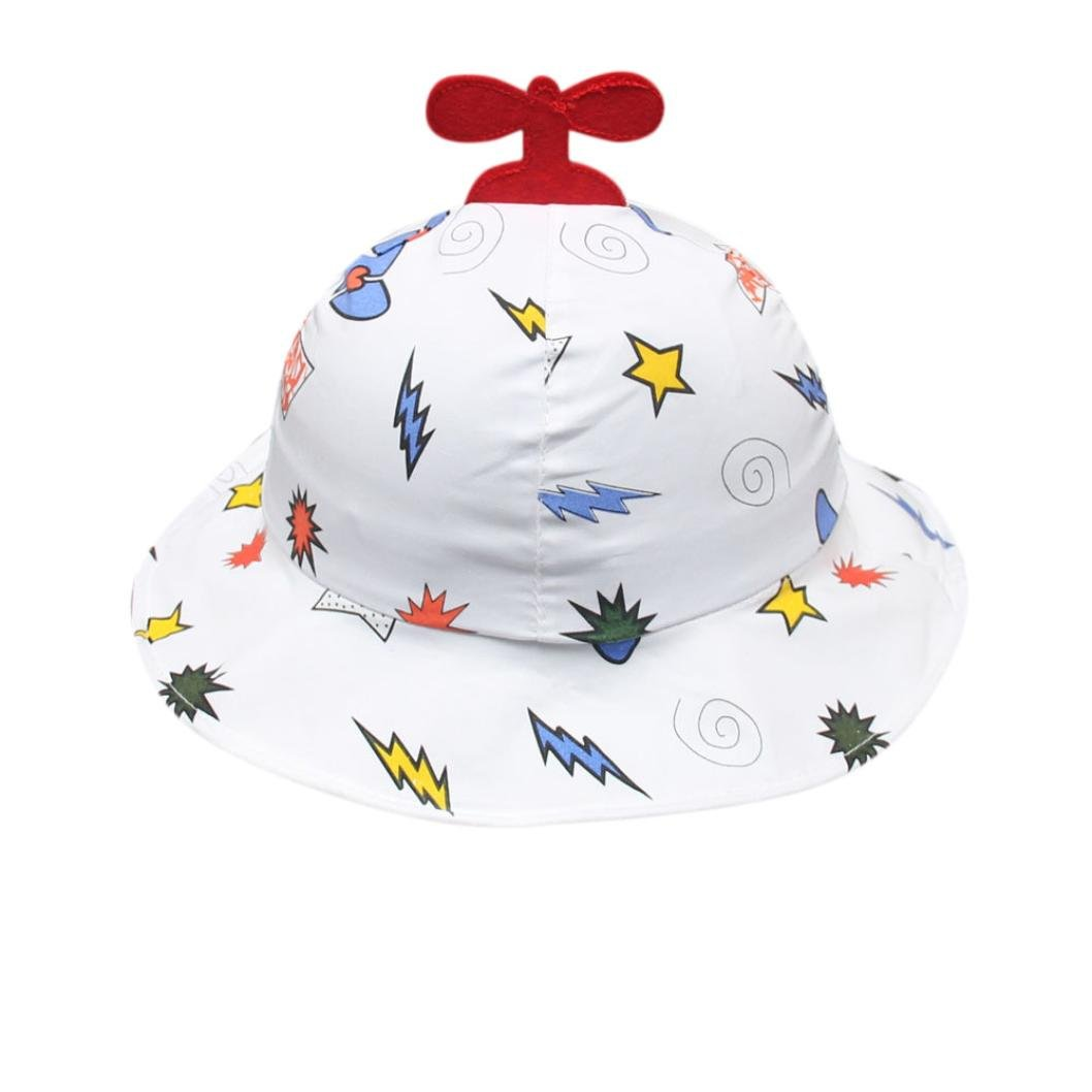 DIGOOD Toddler Baby Boys Girls Cartoon Print Fisherman Cap Kids Leisure Bucket Hat