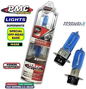2PCS 35W Clear White Halogen H6M Headlight High Low Beam Bulbs For Yamaha ATV
