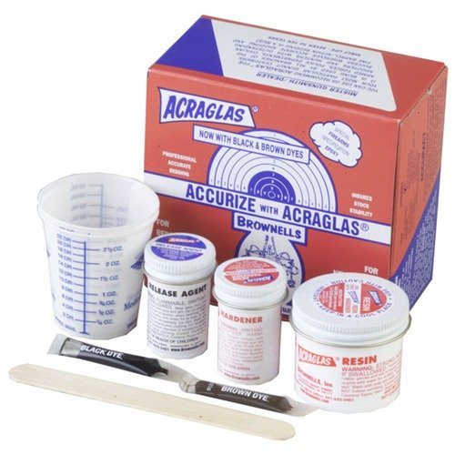 Acraglas Rifle Bedding Kit - Enough for 2 Rifles