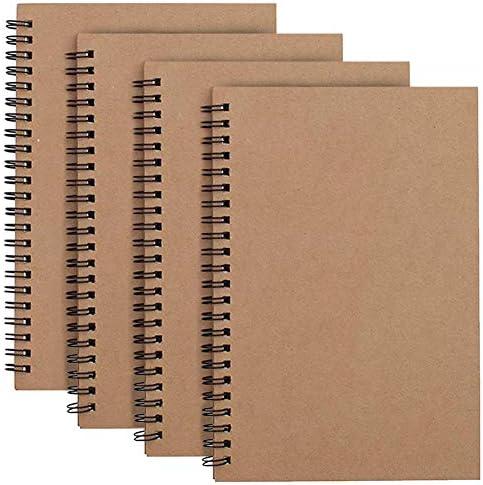 Cuaderno Espiral A4 Forrado, Marrón Cubierta de Kraft Líneas Blocs ...