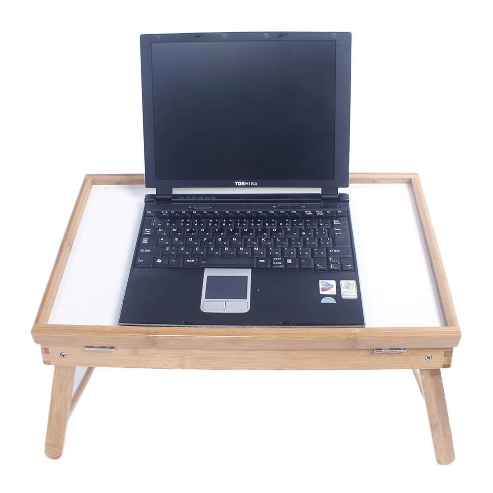 Table Top Adjustable Dining-Table Laptop Table Wood Color White Plank