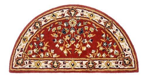 Minuteman International Burgundy Oriental Half Round Wool
