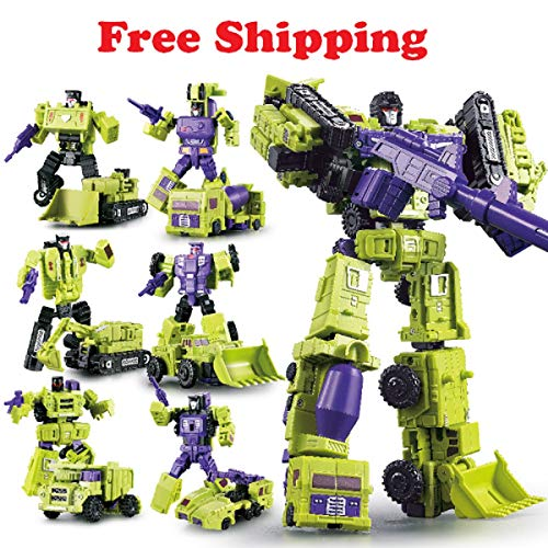 WEIJIANG Transformer GT Engineering Devastator Combiner 6 in 1 Alloy Metal Toys Action Figure Car Truck Model Gift for Kids Boys