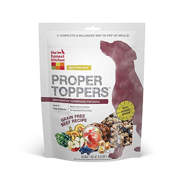 The Honest Kitchen Proper Toppers: Natural Human Grade Dehydrated Dog Superfood Toppers 14 oz - Cage Free Chicken 1