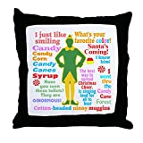 CafePress Elf Movie Quotes - Decor Throw Pillow (18''x18'')
