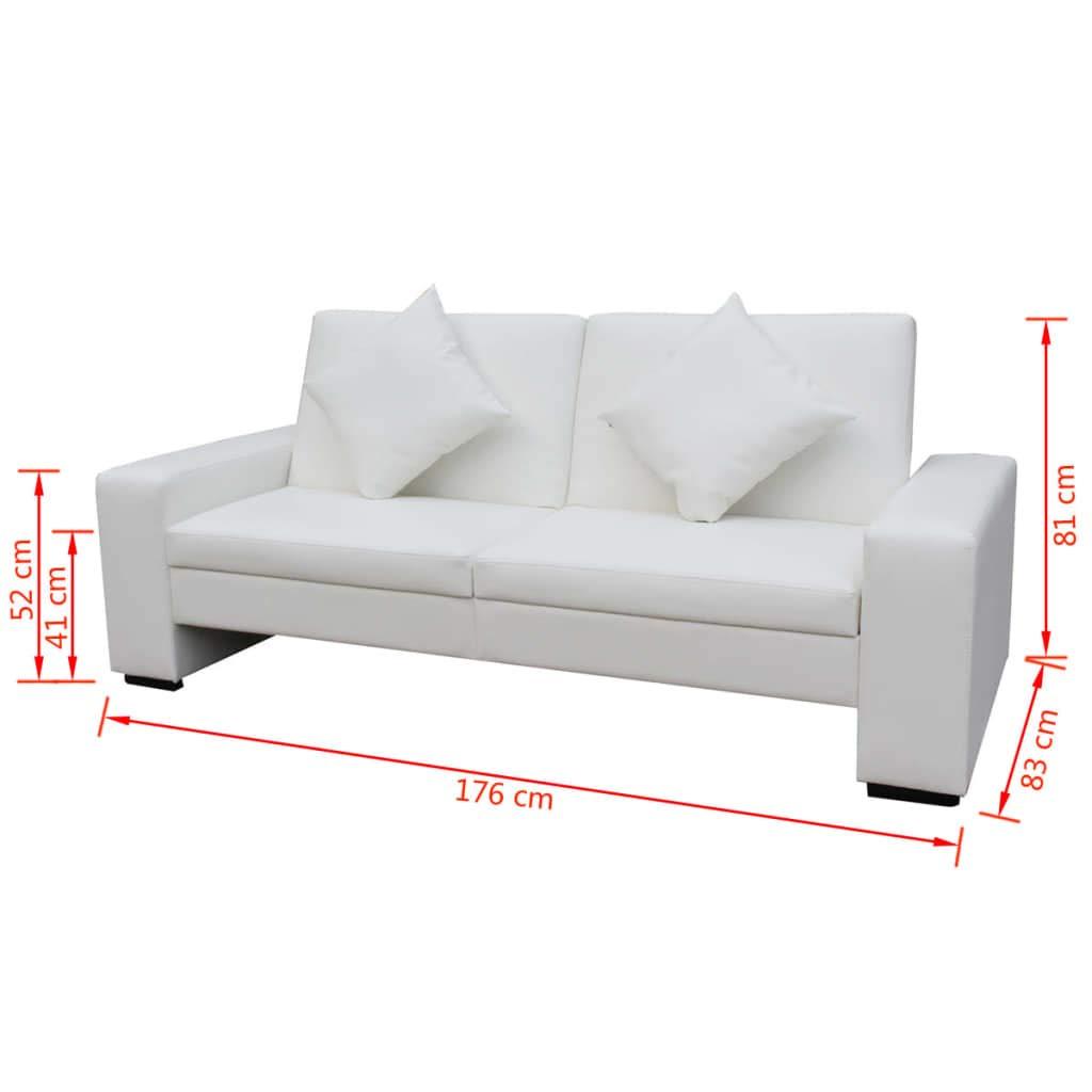 Xingshuoonline Sofá Cama de Cuero Artificial Blanco Sofa ...