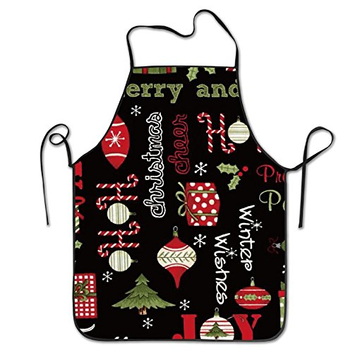 Zoot Suit Pattern (Santa And Friends Ornaments Aprons Home Bib Apron For Women Men Girl Kids Gifts Kitchen Decorations)
