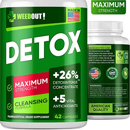 Weedout Urinary Tract UT Cleanse & Bladder Health – Fast-Acting Detoxifying Strength, Flush Impurities, Clear System – Milk Thistle Pills – 42 Vegetarian Capsules