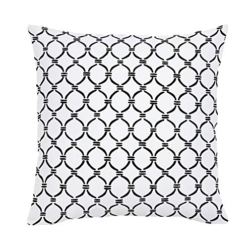 Carousel Designs Onyx Lattice Circles Throw Pillow 26-Inch Square Size - Organic 100% Cotton Throw Pillow Cover + Insert - Made in The USA (Onyx Lattice)