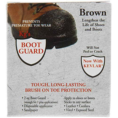 Kg's Boot Guard Brush on Toe Protection, Brown, 2