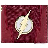 DC Flash Lightning Badge Suit Up Red ID & Card Bi-Fold Wallet