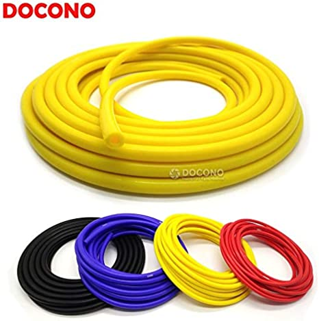 Fincos Universal 3mm//4mm//6mm//8mm Silicone Vacuum Tube Hose Silicone Tubing Blue Black Red Yellow