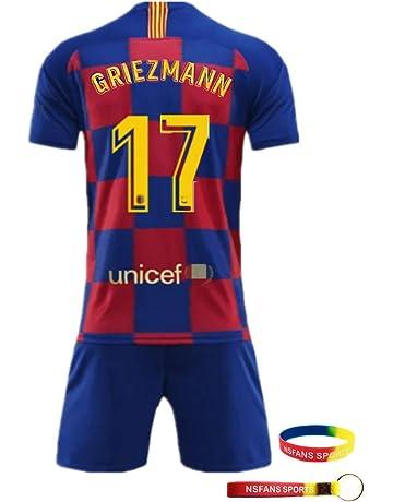 1d001ef4a8 NSFANS Barcelona Camiseta Jersey Futbol 2018-2019-2020 Traje de niños de  Manga Corta