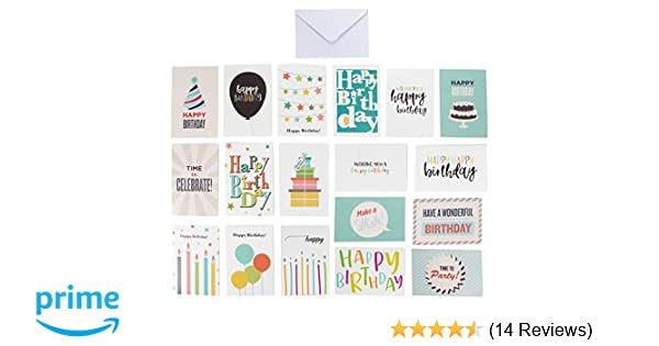 144 Pack Happy Birthday Cards