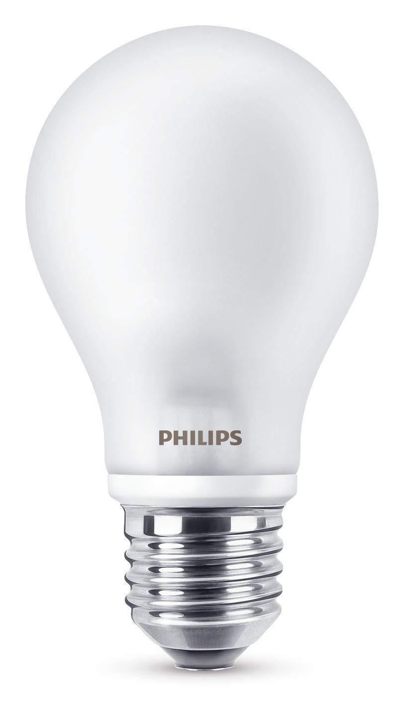 Philips LED Lampe 8 W ersetzt 60 W, E27, warmweiß (2700K), 806 Lumen, matt, 6er Pack 929001234391