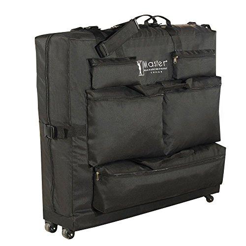 Wheeled Carry Case - Master Massage Universal Wheeled Massage Table Carry Case,bag for Massage Table,Black.