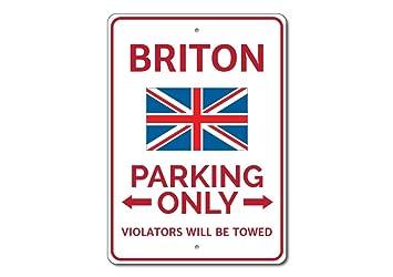 Amazon.com: Briton señal de estacionar, Briton regalo ...