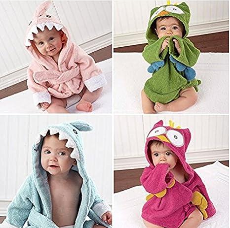 Baby Toalla con capucha Albornoz | kuscheliger Rizo con forma de animales | Baby Toalla con