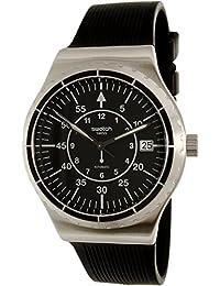 Swatch Men's Sistem51 Irony YIS403 Black Rubber Swiss Quartz Watch