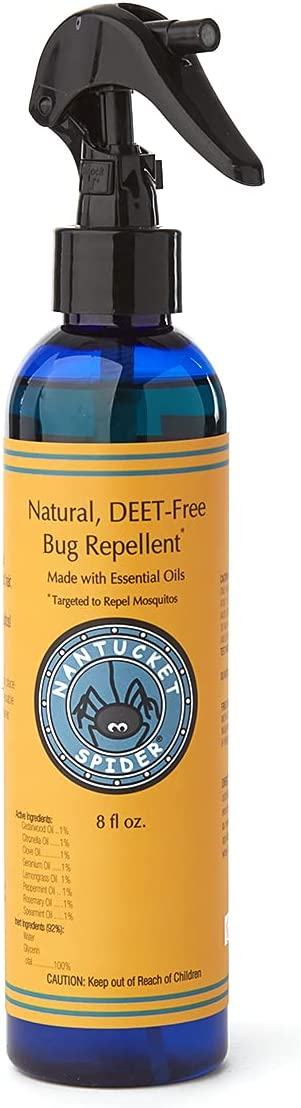 Nantucket Spider Natural Bug Repellent - 8 fl oz | Essential Oil Insect Repellent | Bug Spray for Protection Against Flies, Mosquitoes, Horse Flies, Ticks and Bugs | Perfect Bug Spray for Adults & Kids