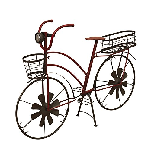 Garden Bicycle (The Gerson Company Planter Solar Lighted Metal Antique Bicycle)