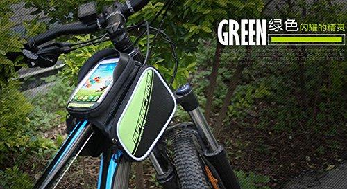 Cycling Bike Fahrradrahmen Pannier vorne Rohr Tasche Fall für Handy, Grün
