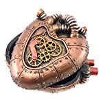 Bellaa 20980 Steampunk Heart Box Mechanical Industrial 4 inch 7