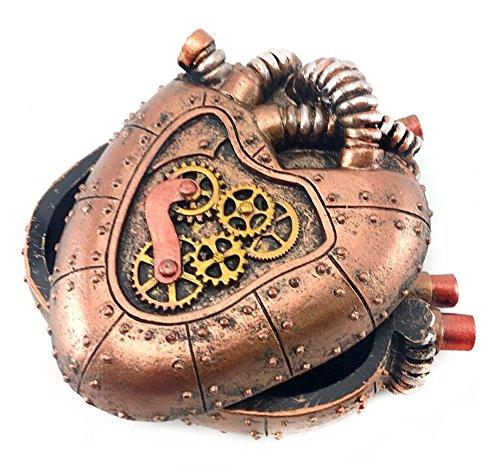 Bellaa 20980 Steampunk Heart Box Mechanical Industrial 4 inch 4