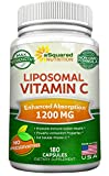 #2: Liposomal Vitamin C - 1200mg Supplement - 180 Capsules - High Absorption Vit C Ascorbic Acid Pills - Liposome Encapsulated - Supports Immune System & Collagen Health - Non-GMO - 90 Servings