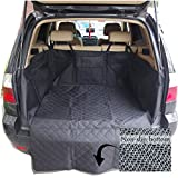 Dog Pet Car Cargo Liner Seat Cover for SUV Cars Truck Waterproof Nonslip Backing Washable Hammock Protection Cargo Cover Bed Mat(Black)