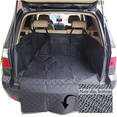 Ginntiona Dog Pet Car Cargo Liner Seat Cover for SUV Cars Truck Waterproof Nonslip Backing Washable Hammock Protection Cargo Cover Bed Mat(Black) - Suv Cargo Protection