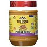 New World Foods Peanut Butter, Crunchy Unsalted Organic, 1Kg