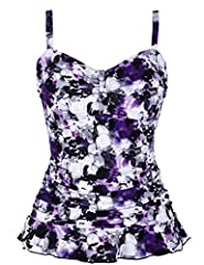 Hilor Women¡¯s 50's Retro Ruched Tankini Swimsuit Top with Ruffle Hem Brand:Hilor Hilor brand always strengthen the development of new products to make sure our swimsuits can be adapted to the need of customers. This suit with retro style, ty...